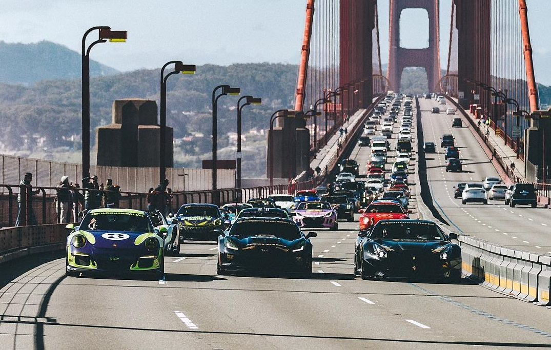 goldrush rally golden gate bridge