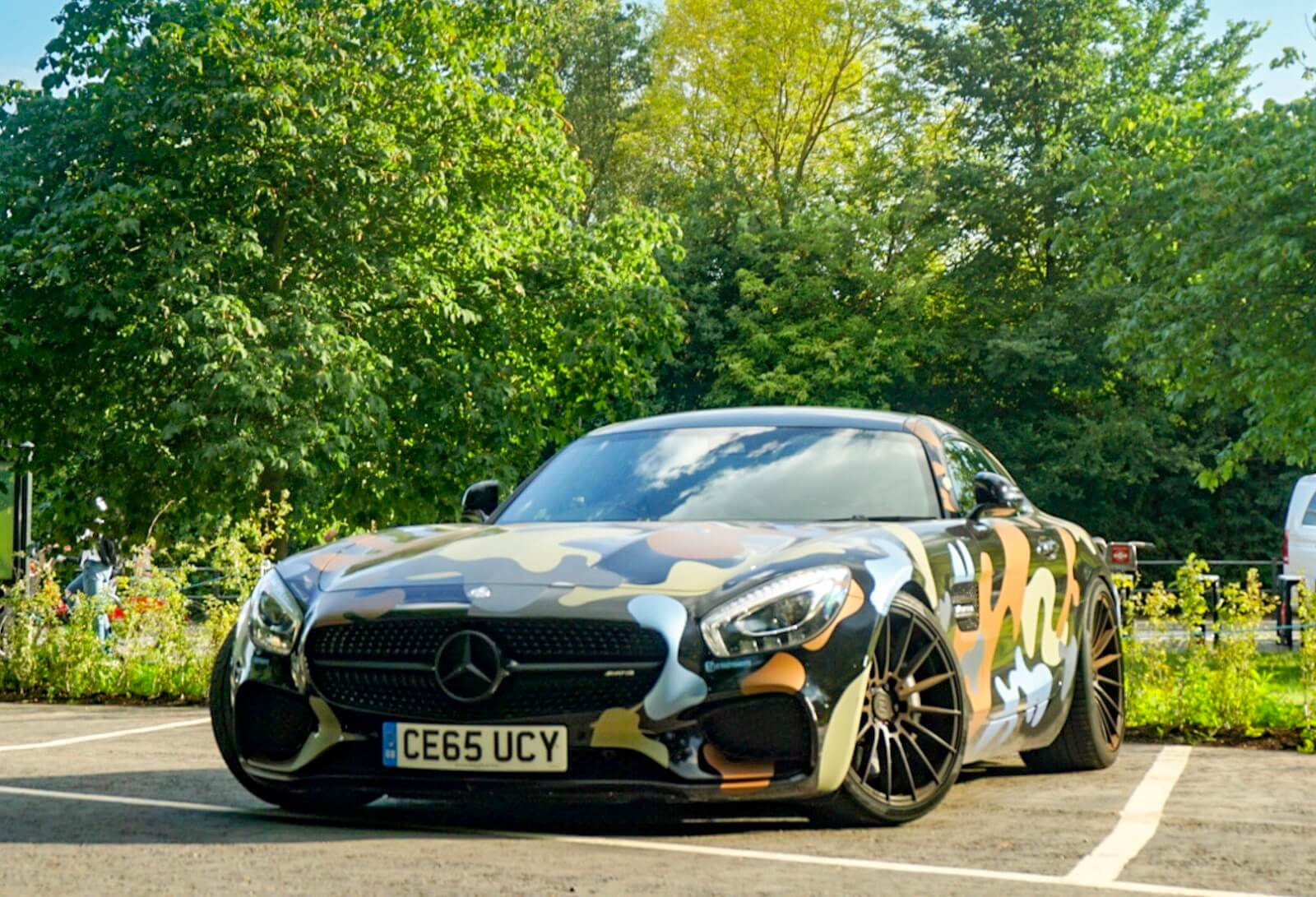 Exclusive Mercedes Amg Gts Camo In London Cars247